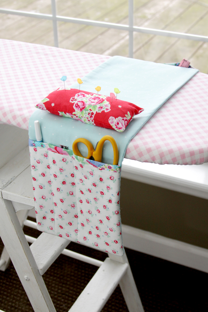 Pretty Ironing Board Organizer