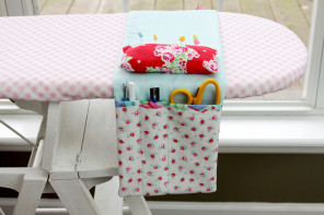 Easy DIY Ironing Board Organizer