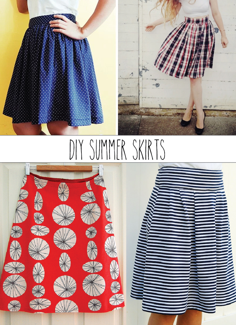 Summer Skirt Pattern Roundup featured by top US sewing blog, Flamingo Toes.