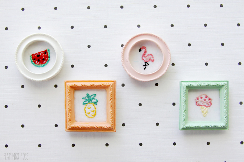 Sweet Summer Mini Embroidery Frames