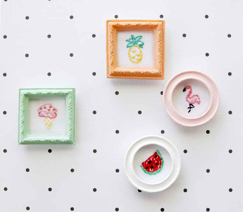 Tiny Summer Embroidery Frames
