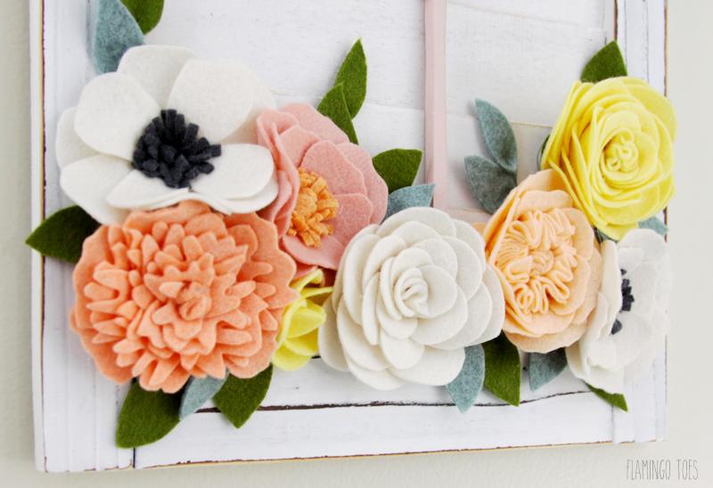DIY Felt Flower Wall Decor