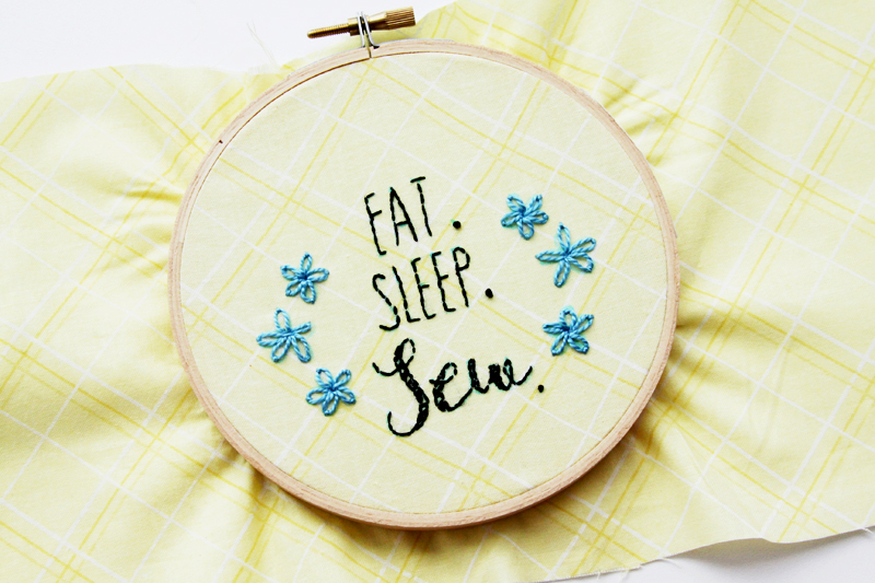 Eat Sleep Sew Embroidery