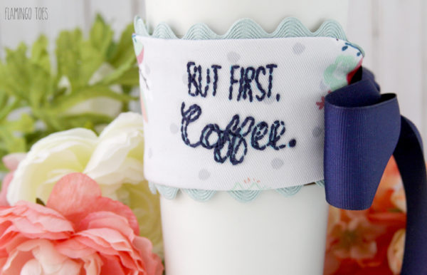 Embroidered Mug Cozy