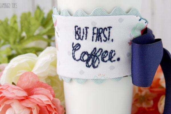 Embroidered Mug Cozy