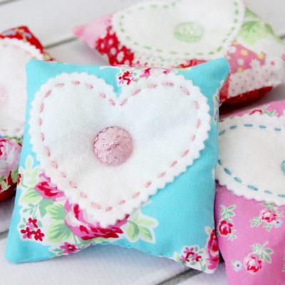 Sweet Fabric & Felt Lavender Sachets