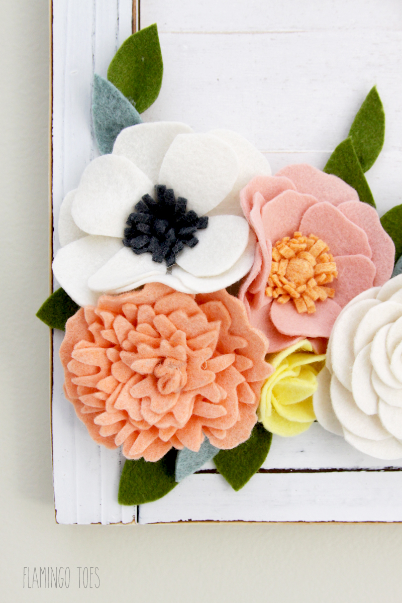 Felt Flower Wall Decor