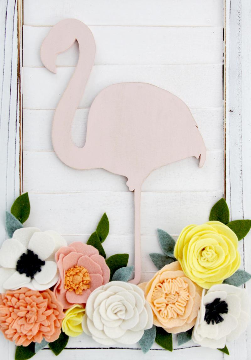 Flamingo Shutter Wall Art