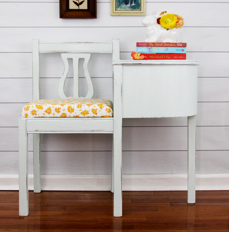 Folk Art Milk Paint Bench Refinish