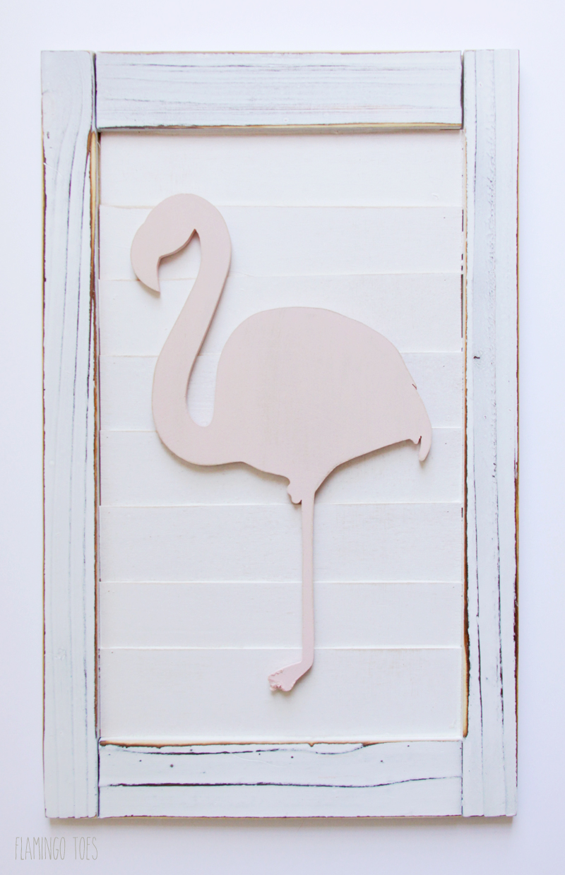 Gluing Flamingo To Shutter