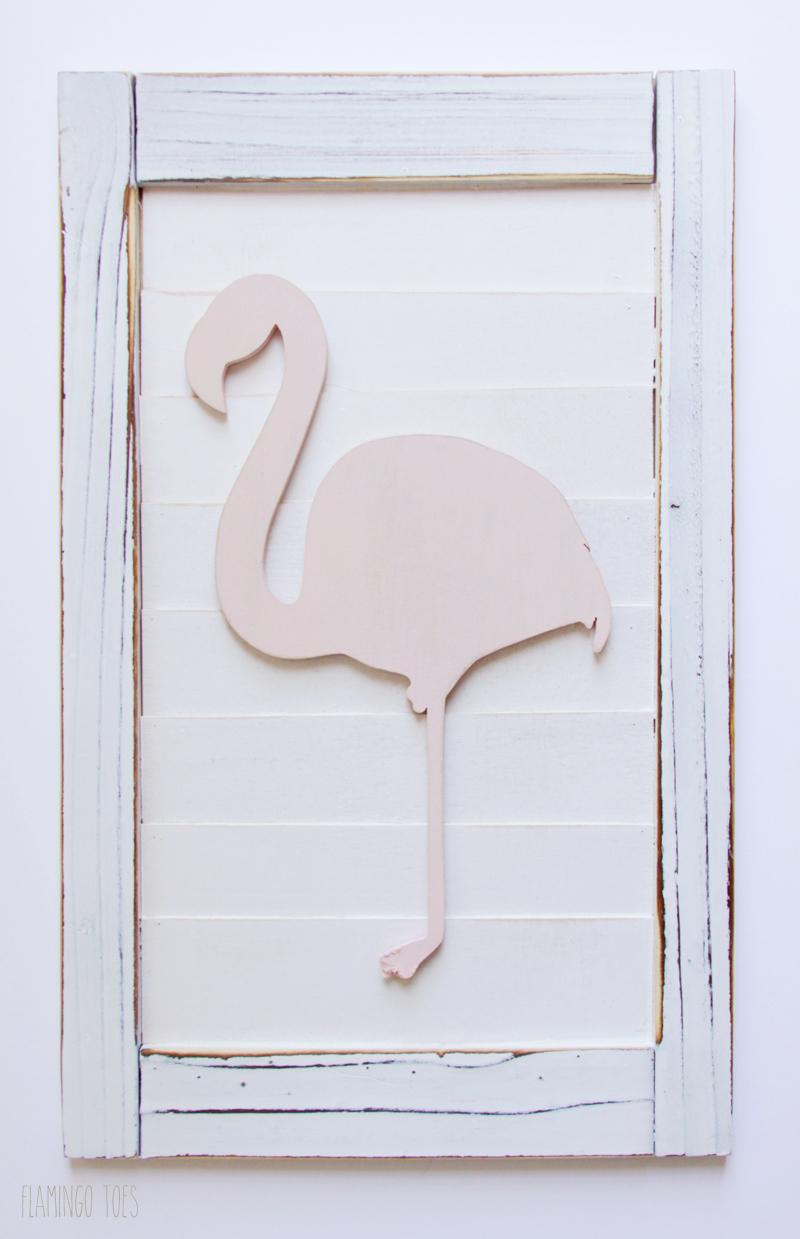 Gluing Flamingo To Shutter