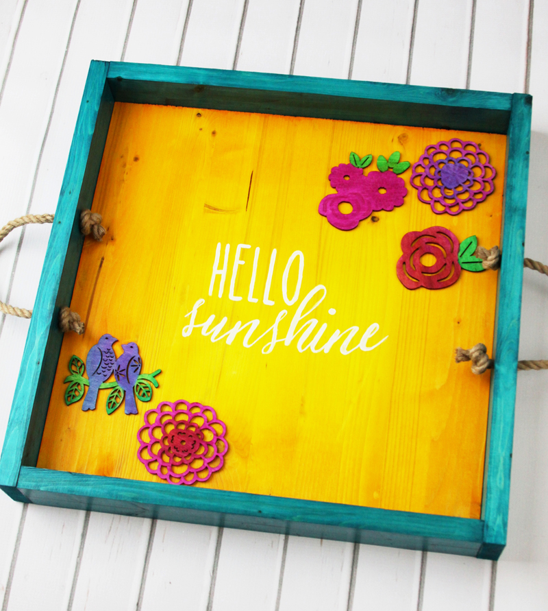 Hello Sunshine Wooden Tray