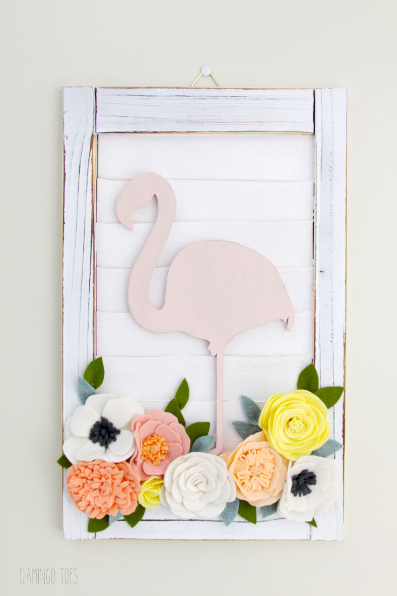 Painted Flamingo Decor
