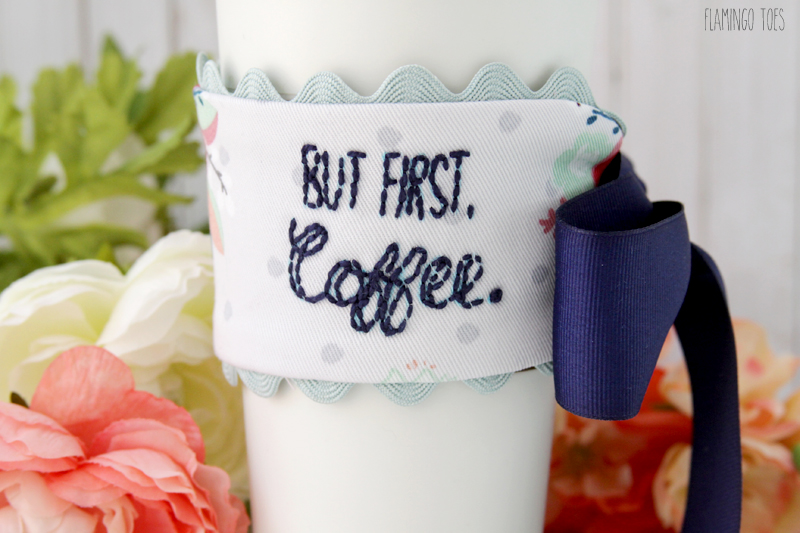 Pretty Embroidered Mug Cozy