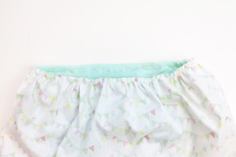 Sew Top to Skirt