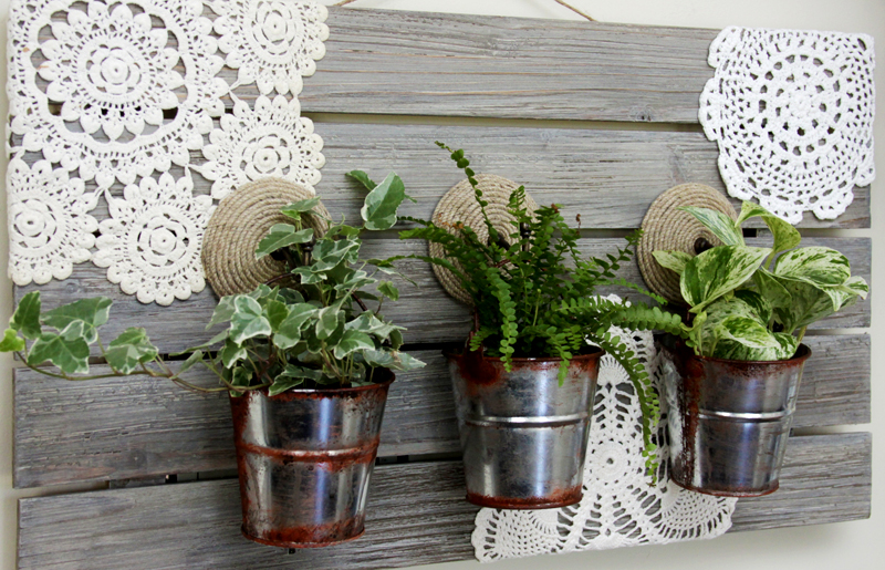 Barnwood Hanging Planter Tutorial