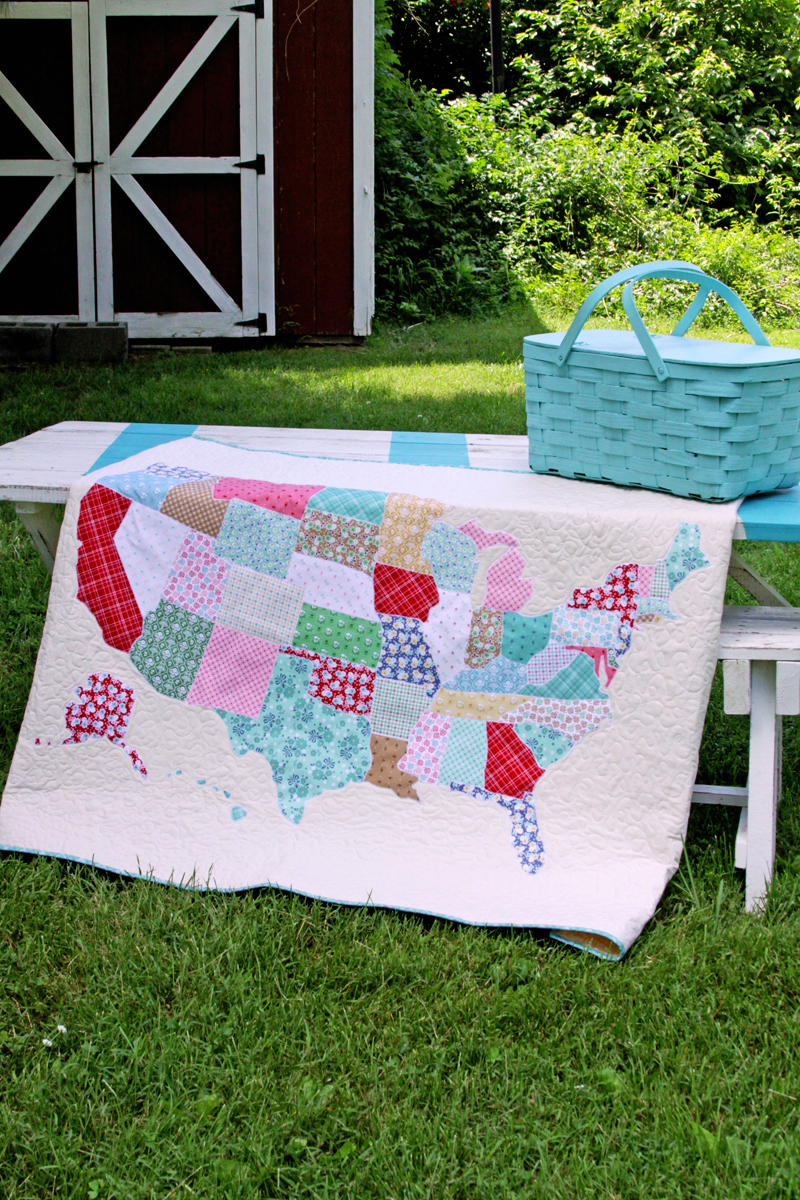 DIY US Map Lap Quilt