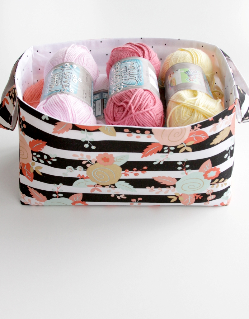 DIY Fabric Storage Basket featured by top US sewing blog, Flamingo Toes