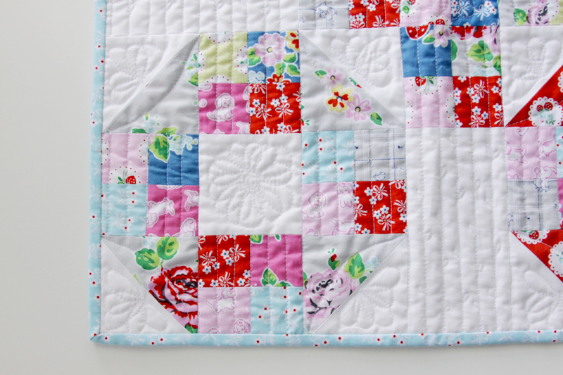 Floral Free Motion Quilting Mini Quilt