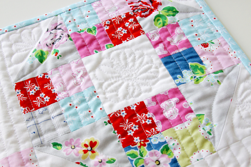Floral Free Motion Quilting