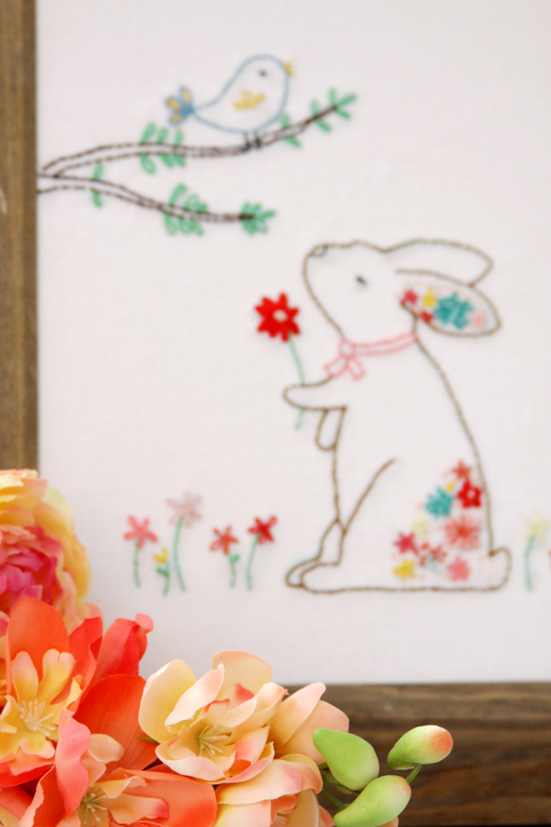 Floral Woodland Embroidery Pattern