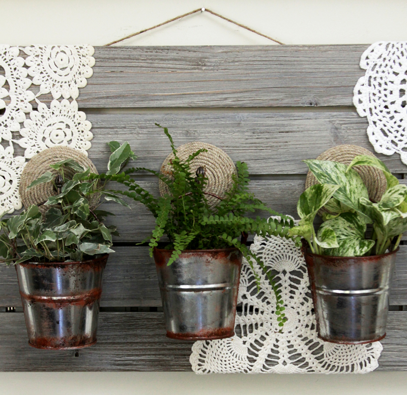 FolkArt Barnwood Finish Planter