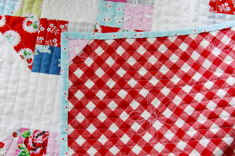 Gingham Mini Quilt Backing