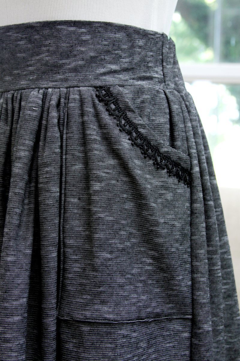 Lace Trim on Pockets of Skirt