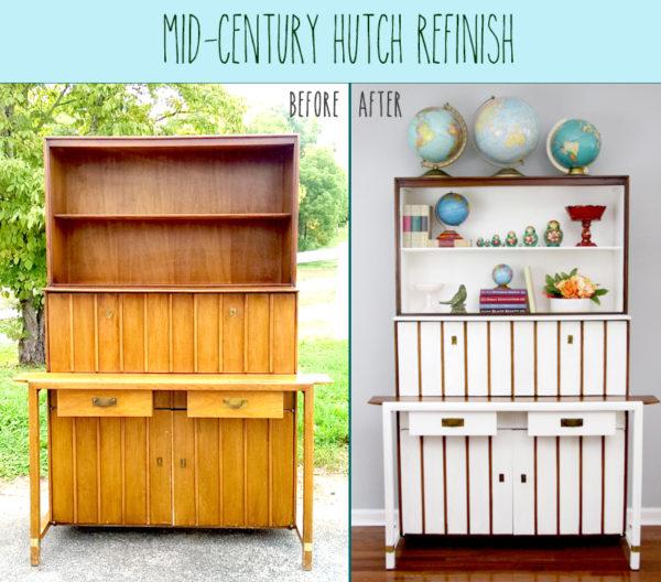 Mid-Century Hutch Refinish