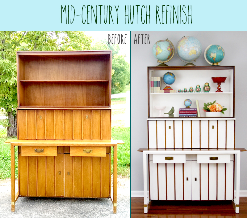 Mid-Century Hutch Refinish
