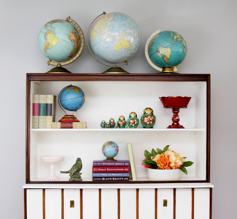 Mid-Century Hutch Shelves