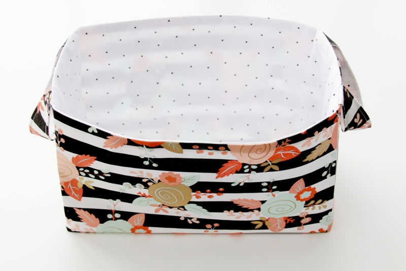 DIY Fabric Storage Basket featured by top US sewing blog, Flamingo Toes: Pressing Fabric Basket
