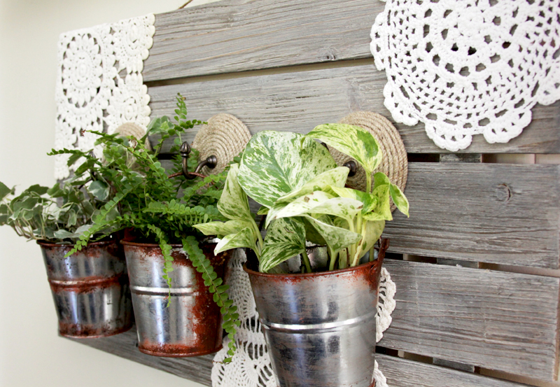 Pretty Hanging Barnwood Planter