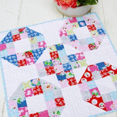 Strawberry Biscuit Mini Quilt