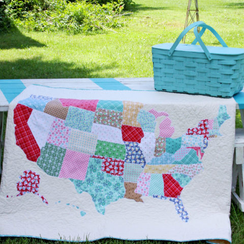 US Map Quilt
