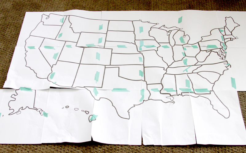 Us State Map Quilt - Us-map-printable-with-states