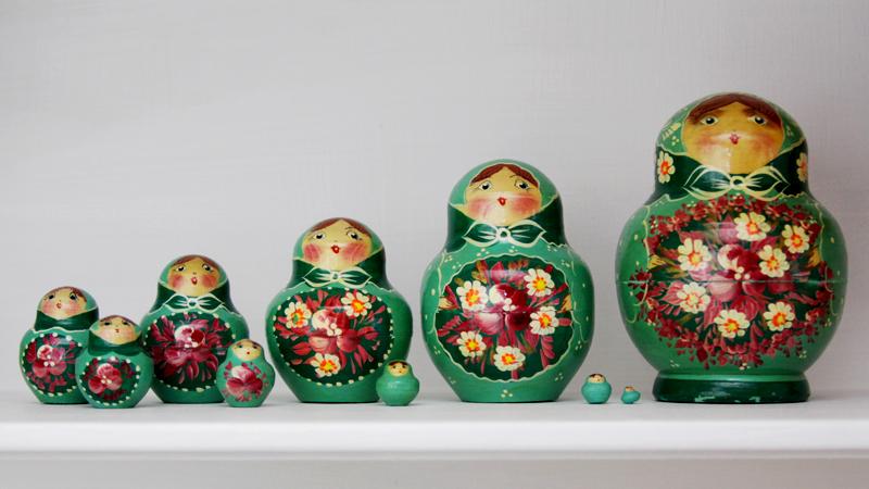 Vintage Motryoshka Dolls