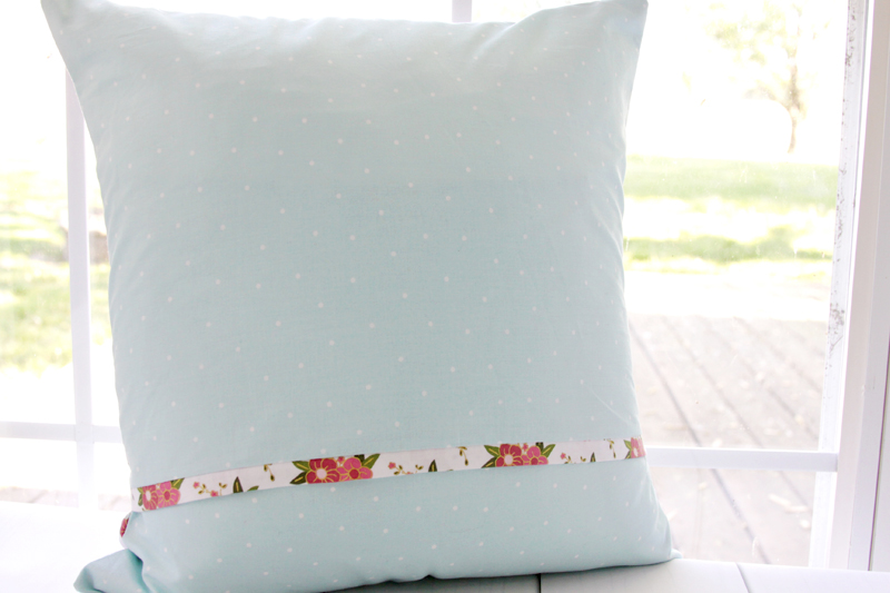 Back of Envelope Pillow Cover