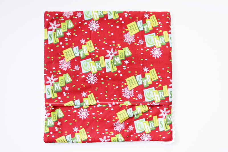 Christmas Envelope Pillow Back