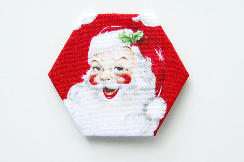 Christmas Fabric Hexagon