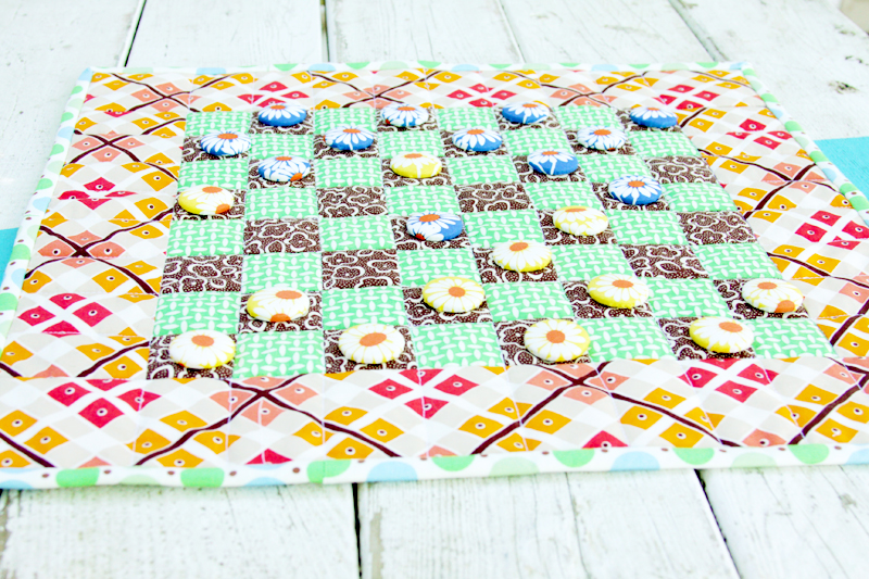 Colorful Fabric Checkerboard