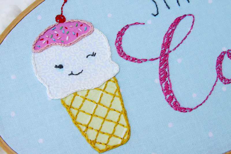 Cute Ice Cream Hoop Art