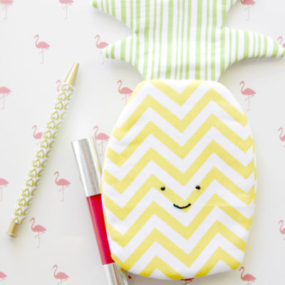 Sweet Pineapple Zipper Pouch
