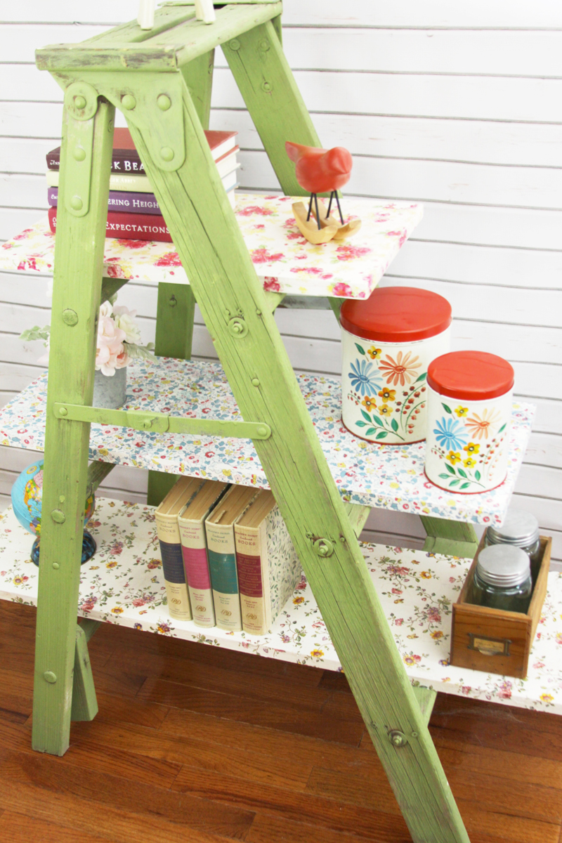 Floral Ladder Shelving