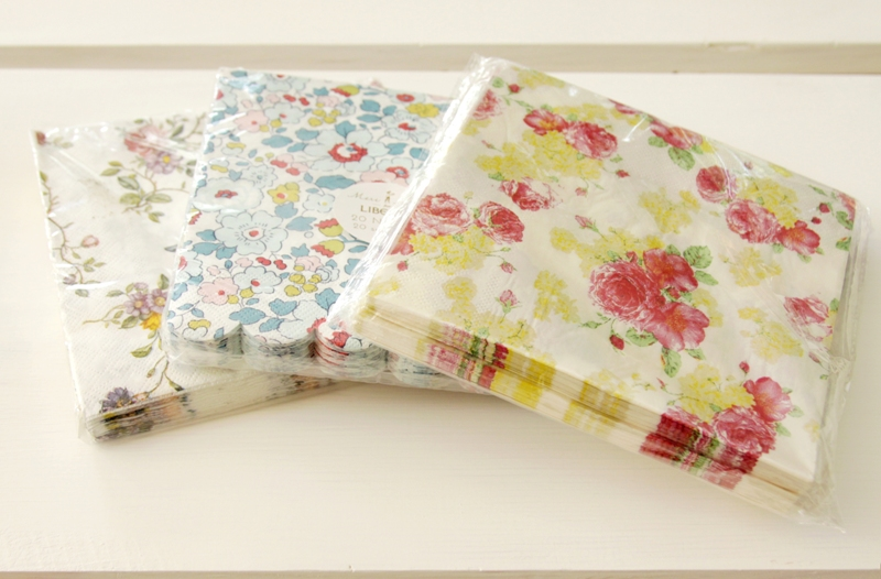 Floral Paper Napkins for Mod Podge