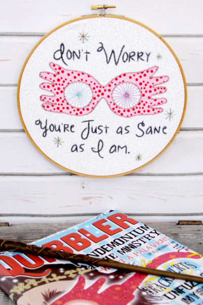 Luna Lovegood Embroidery Hoop Art