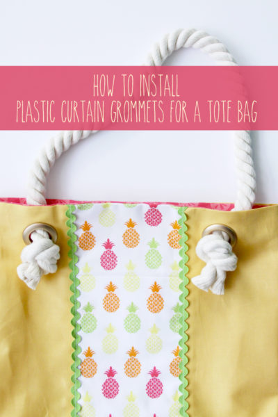 How to Add Grommets to a Tote Bag