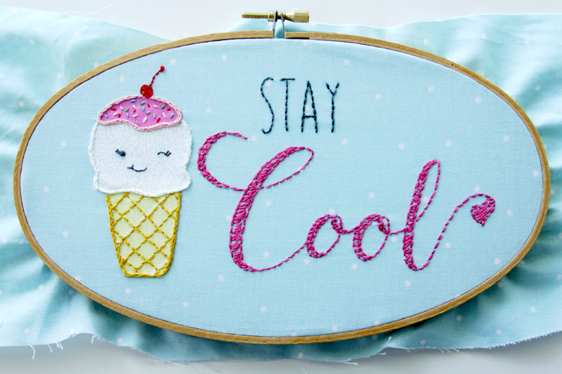 Ice Cream Embroidery