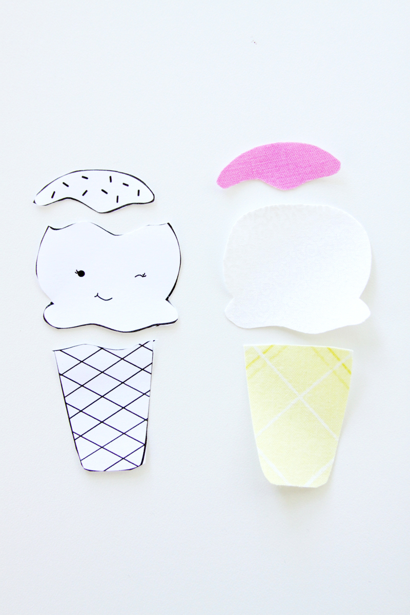 Ice Cream Pattern for Hoop Art