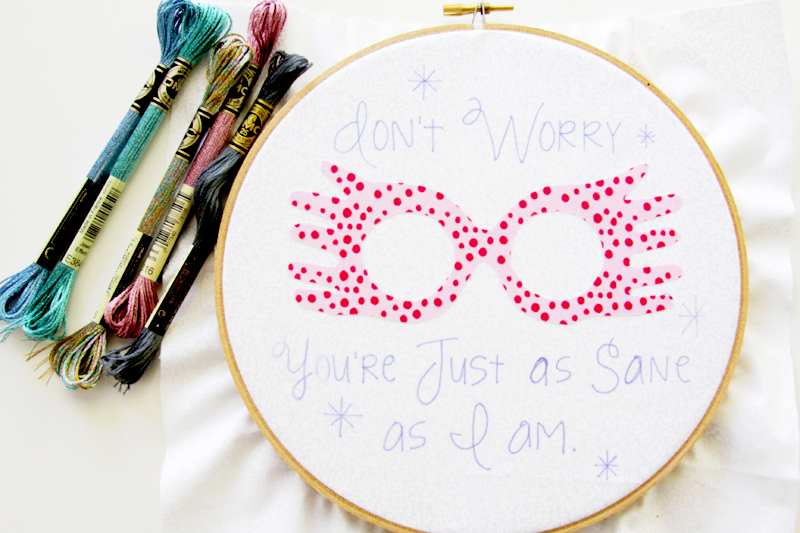 Luna Lovegood Embroidery Design